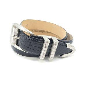 Sandy Duftler Black Leather Western Style Belt